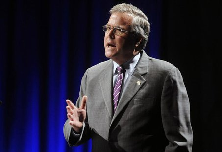 Former Florida Governor Jeb Bush addresses the National Association of Latino Elected and Appointed Officials Annual Conference in Lake Buen