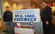 Jerry Bader Live @ Nicolet National Bank Collecting Presents for the Families of Children With Cancer Christmas Party 7