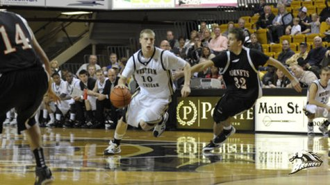 WMU senior Brandon Pokley, who led the Broncos with 12 points as Western edged High Point 54-53 at University Arena on Thursday, November 29, 2012 (Photo courtesy of www,wmubroncos.com)