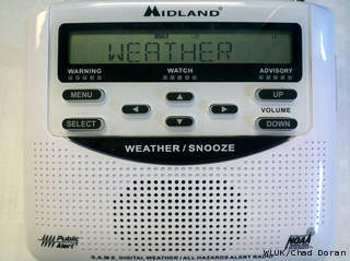 Emergency Weather Radio (courtesy of FOX 11).