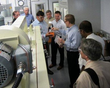 A recent photo taken at Argonne's facilities from when over 20 Holland-area business and university leaders were hosted for a day long tour. (photo courtesy Lakeshore Advantage)