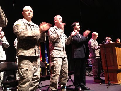 Governor Scott Walker Attends Sendoff for Plymouth National Guard Unit Saturday Morning