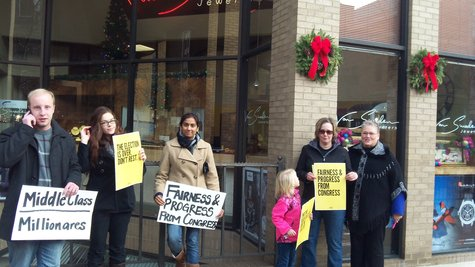 "Kalamazoo's ""Day of Action"" protest."