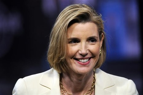 Sallie Krawcheck, former head of Bank of America's wealth and asset management division, speaks during an interview in New York, June 11, 20