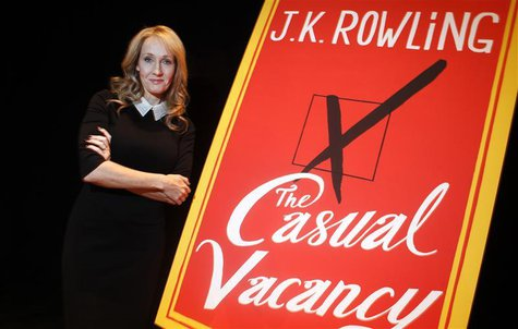 "Author J.K. Rowling poses for a portrait while publicizing her adult fiction book ""The Casual Vacancy"" at Lincoln Center in New York October"