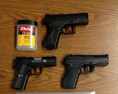 Evidence seized during a Dec. 1, 2012 arrest of five teens for their alleged involvement in a 90-minute shooting spree in and around South Haven. (photo courtesy Van Buren Co. Sheriff's Dept.)