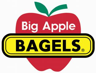 Big Apple Bagels logo is shown in a stock image.