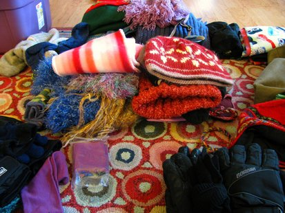 mittens, hats and scarves
