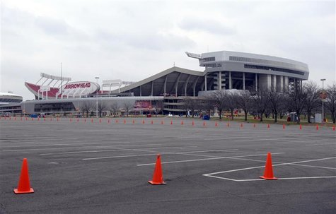 Kansas City Chiefs Arrowhead Stadium is seen following an apparent murder-suicide involving Chiefs' linebacker Jovan Belcher in Kansas City