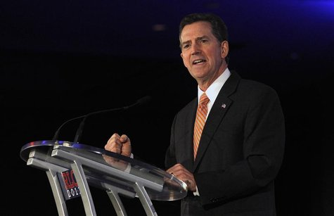 U.S. Senator Jim DeMint (R-SC) speaks during the Republican Leadership Conference in New Orleans, Louisiana June 17, 2011. REUTERS/Sean Gard