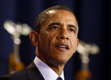 U.S. President Barack Obama speaks to the Nunn-Lugar Cooperative Threat Reduction symposium at the National Defense University in Washington