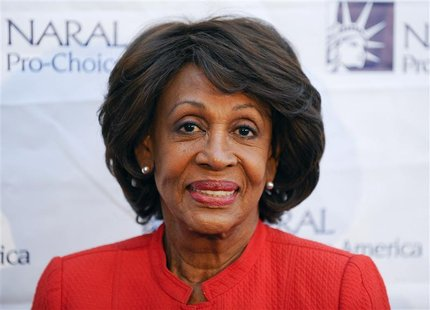 Congresswoman Maxine Waters arrives at the National Abortion and Reproductive Rights Action League Pro-Choice America's 2012 Los Angeles Pow
