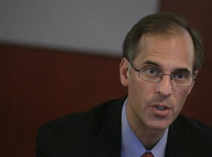 Mark Zandi, chief economist of Moody's Analytics, speaks at the Reuters Real Estate and Infrastructure Summit in New York June 20, 2011. REU