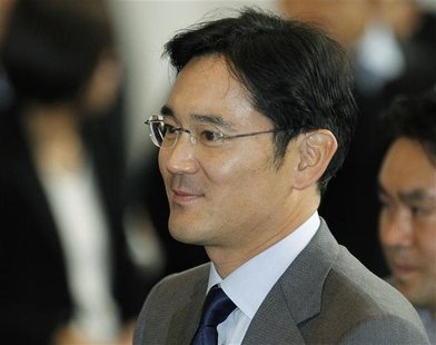 Jay Y. Lee, son of Samsung Electronics chairman Lee Kun-hee and the company's chief operating officer arrives at the company's headquarters