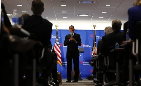 U.S. President Barack Obama speaks at the Business Roundtable in Washington December 5, 2012. REUTERS/Larry Downing