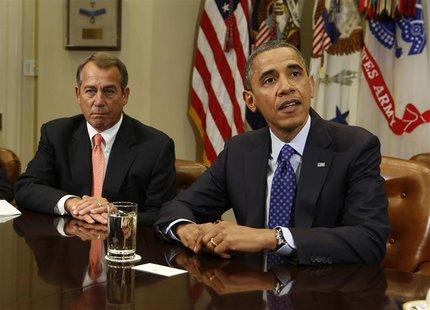 U.S. President Barack Obama hosts a bipartisan meeting with Congressional leaders in the Roosevelt Room of White House to discuss the econom