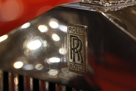 The logo of a Rolls Royce is pictured during a press presentation prior to the Essen Motor Show in Essen November 30, 2012. REUTERS/Ina Fass