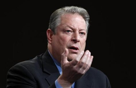 "Former U.S. Vice President and Current TV Chairman and co-founder Al Gore speaks during the panel for Current TV's ""Politically Direct"" at t"