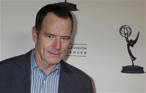 "Actor Bryan Cranston, nominated for outstanding lead actor in a drama series for his role in ""Breaking Bad"" poses at the Academy of Televisi"