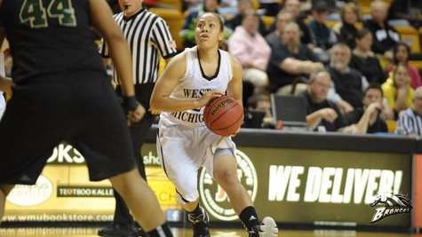 Western Michigan junior guard Corie Buchanan, who scored 14 points in a losing effort against IUPUI on Wednesday, December 5, 2012, as the Broncos fell 75-67. (Photo courtesy of www.wmubroncos.com)