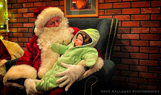 Santa with a bundle of joy!