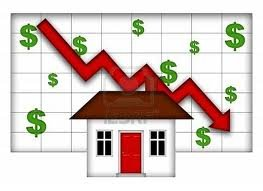 property values down