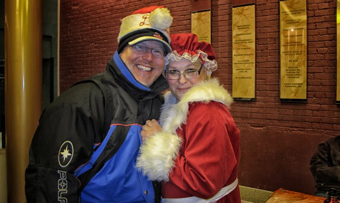 Dave Kallaway & Mrs. Claus at the Great Hall Warming Party..right after the Wausau Holiday Parade!