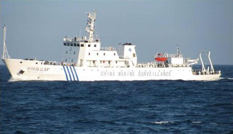 A Chinese marine surveillance ship is seen offshore of Vietnam's central Phu Yen province May 26, 2011 and released by Petrovietnam in this
