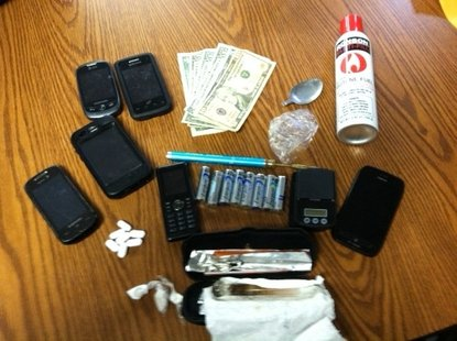 Meth and items used in Meth production.