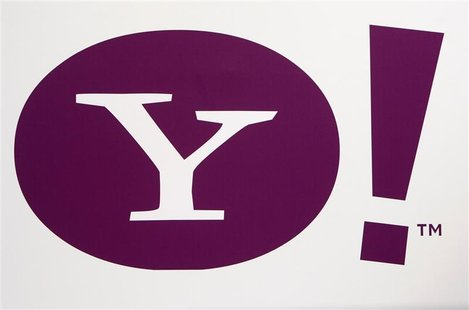 The Yahoo logo is seen at the Consumer Electronics Show (CES) in Las Vegas, Nevada January 7, 2008. REUTERS/Rick Wilking