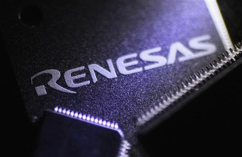 Renesas Electronics Corp's chips are pictured at the company's office in Tokyo October 23, 2012. REUTERS/Yuriko Nakao
