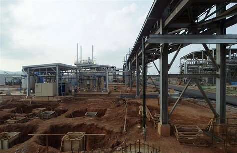 A general view of Lynas factory is seen in Gebeng, 270 km (168 miles) east of Kuala Lumpur April 19, 2012. REUTERS/Samsul Said