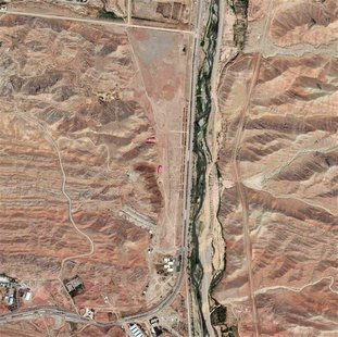 A section of the Parchin military facility in Iran is pictured in this August 22, 2012 DigitalGlobe handout satellite image. REUTERS/Courtes