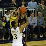 Michigan point guard Trey Burke, who scored 19 points in a 67-39 win over Binghamton at Crisler Center on Tuesday, December 11, 2012.