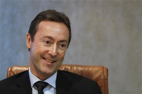 Airbus CEO Fabrice Bregier is seen during an interview with Reuters in London, December 3, 2012. REUTERS/Simon Newman