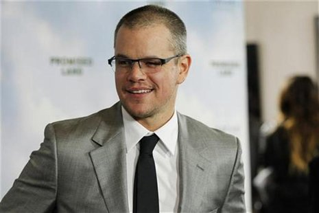 "Cast member Matt Damon poses at the premiere of ""Promised Land"" at the Directors Guild of America (DGA) in Los Angeles, California December"