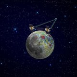 An artist's rendering of twin GRAIL spacecraft in orbit around the moon is shown in a NASA handout received by Reuters January 17, 2012. Reu