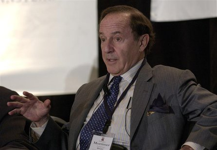 Mort Zuckerman, chairman of the board of directors of Boston Properties, Inc., speaks at the Wharton Economic Summit in New York February 1,