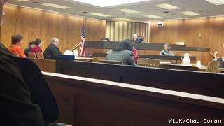 Casey Bennett (dressed in orange) appears in court on Monday, December 17, 2012. (courtesy of FOX 11).