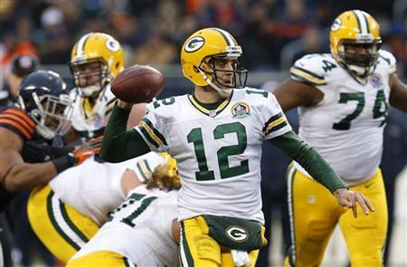 Aaron Rodgers of the Green Bay Packers (Reuters)