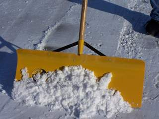 Snow shovel (courtesy of FOX 11).