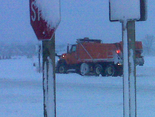 A plow clears snow in Little Chute on December 9, 2009. (courtesy of FOX 11).