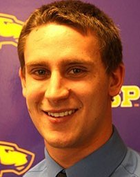 UWSP Mens Basketball Player Austin Ryf, photo courtesy UWSP Athletic Department.