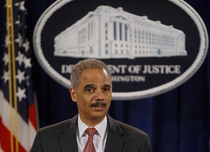 U.S. Attorney General Eric Holder announces enforcement actions against UBS Securities Japan Co. Ltd.investment bank at the Justice Departme