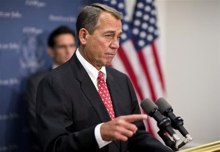 U.S. House Speaker John Boehner (R-OH) speaks at a news conference after a Republican caucus meeting on Capitol Hill in Washington on Decemb