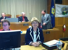 Outgoing County Clerk Julie Glancey