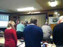 County Board stands in silence to remember Newtown
