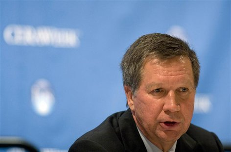 Ohio Governor John Kasich speaks during the CERAWEEK world petrochemical conference in Houston March 7, 2012. REUTERS/Donna W. Carson