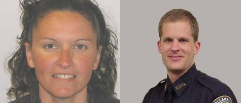 Holland Firefigher Heidi Canfield (L) and Public Safety Sgt. Keith Mulder (R)(photos courtesy Holland Dept. of Public Safety)
