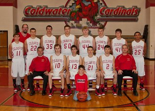 2012-2013 Coldwater  boys varsity basketball team